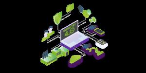 Vector Digitalización del sector industrial